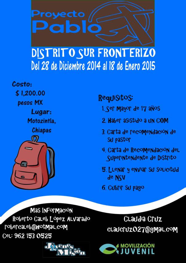 Afiche PP Sur Fronterizo 2015