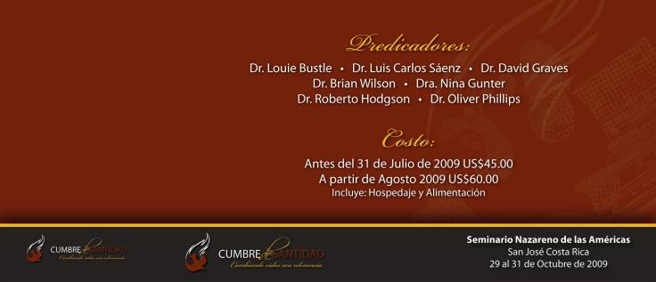 Cumbre de Santidad inscripcion
