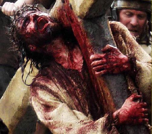 Cristo Cargando Cruz Sangrando