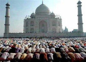 Muchedumbre de musulmanes