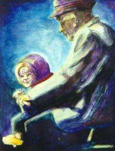 Pintura Abuelo Niño