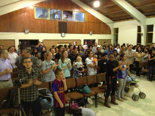 Culto unido con líderes de la JNI de los dos distritos costarricenses - Dto. Central y Distrito Norte
