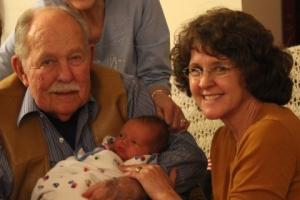 La autora con su padre