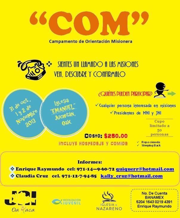 COM 2013 OAX