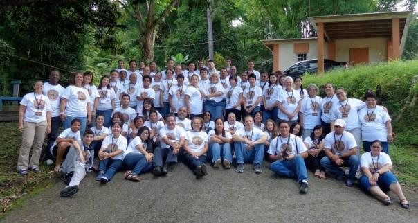 66 Interesados en misiones asistieron al COM en Jayuya, Puerto Rico hace un mes.