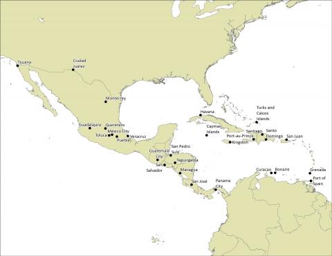 Un mapa de los 28 sitios de Génesis