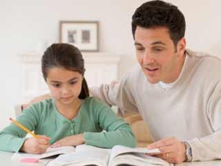 homework w Dad