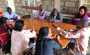 Un entrenamiento de contadores de historias en Nairobi, Kenia