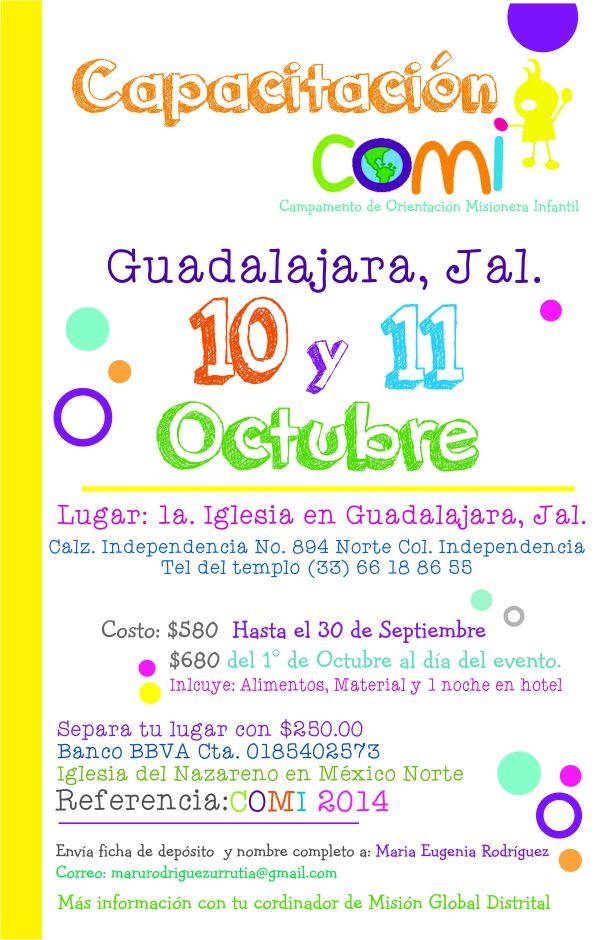 Poster capacitación COMI