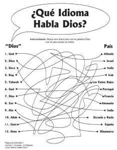 idioma Dios