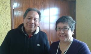 El Coordinador de Sitio y una hermana de San Juan Tilapa