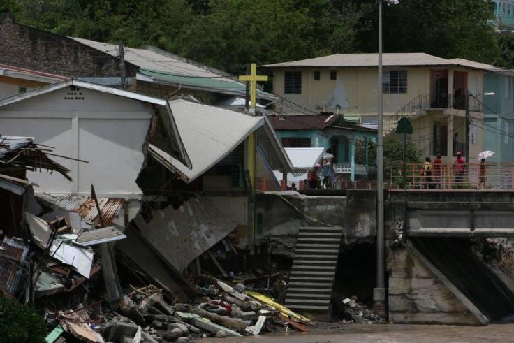 Iglesia destruida Dominica