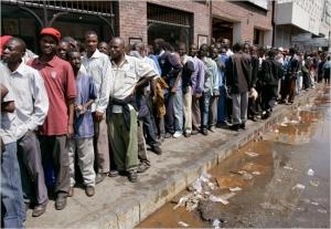 Waiting in line Zimbabwe