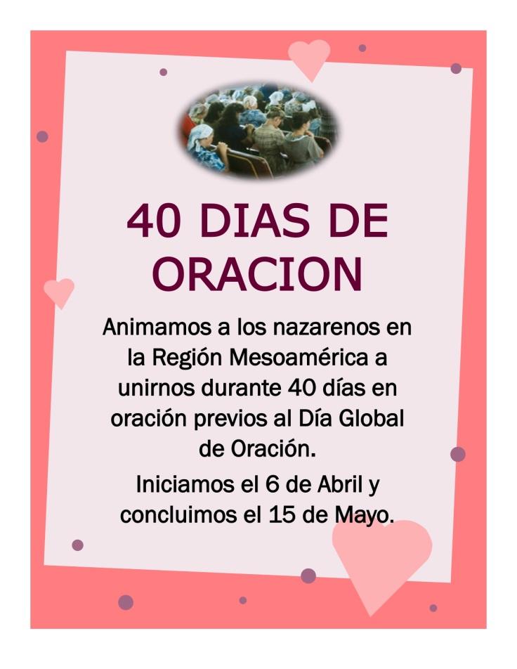 40 DIAS DE ORACION 2016