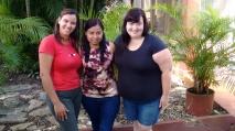 Sitio Santiago. Wendy, Sugey y Abby.