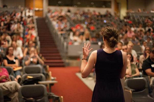 teaching large auditorium